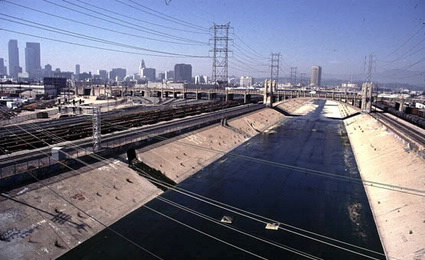LA River with Bridge