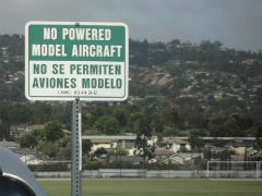 No Powered Model Aircrafts allowed at the facility
