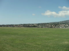 View of the hills from the soccer field