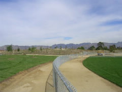 Walking trail around the park
