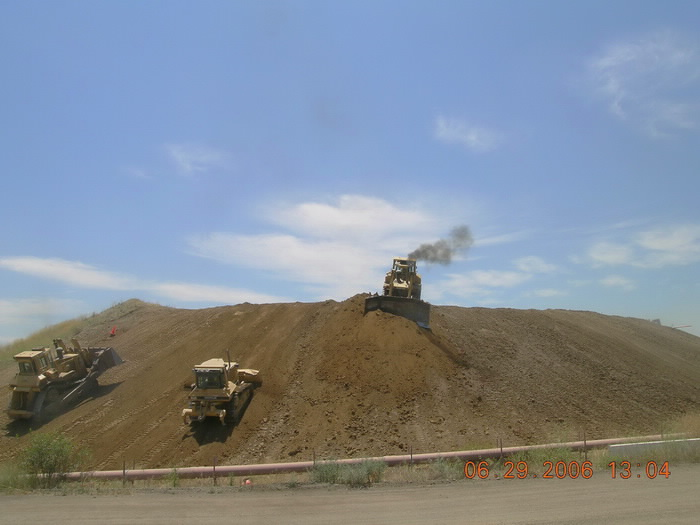 Compacting slopes