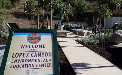 lopez canyon sign