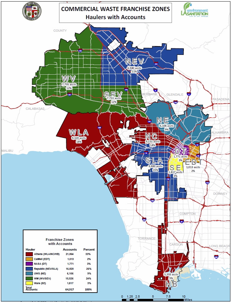 ZERO WASTE LA FRANCHISE ZONES WITH FRANCHISE SERVICE PROVIDERS
