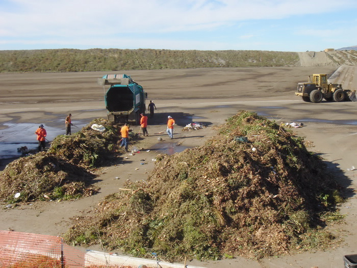 Sometimes, large amounts of contamination are found inside the greenwaste.