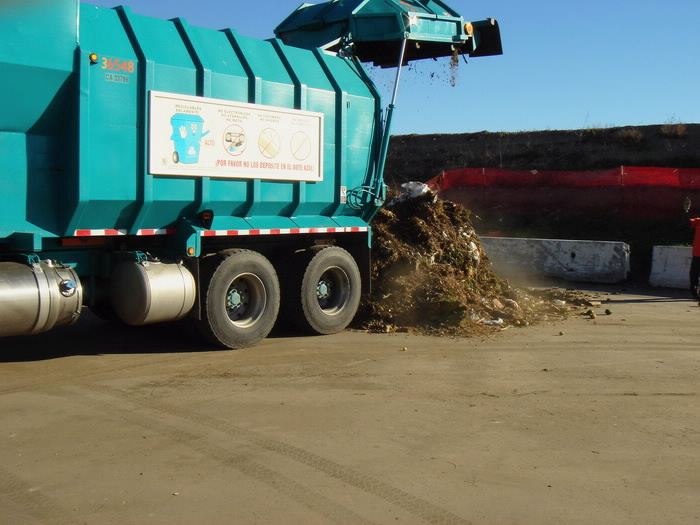 Greenwaste collected from Los Angeles residents are dumped at Lopez Canyon