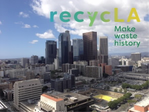 recycLA logo on LA skyline