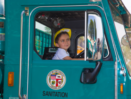 One of the popular activities each year is children getting to sit in a refuse collection truck.