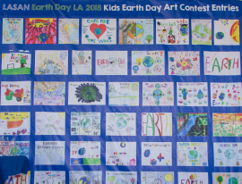 Numerous youngsters submitted various art drawings about ways to conserve and sustain the environment.