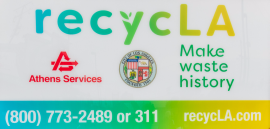 Athens Services is one of seven recycling service providers in the recycLA program.