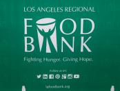 The event was held at the Los Angeles Regional Food Bank.