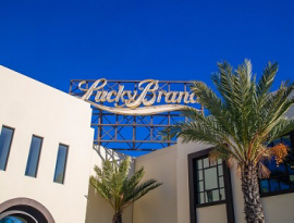 The Lucky Brand headquarters is located in the Arts District of Los Angeles.