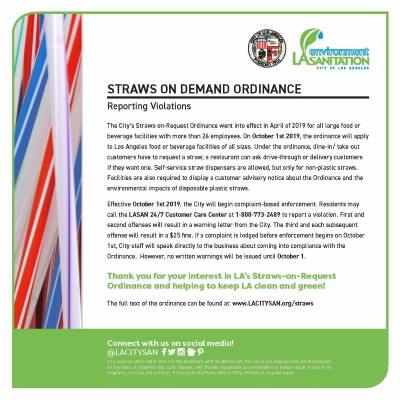 Plastic Straw Ban report violatiobs message 400x215