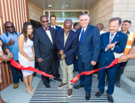 Photo 8 – The official ribbon-cutting for the facility.