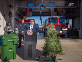 LA Sanitation and Environment Division Manager Daniel McKay talks about the various options on how to properly recycle your tree.