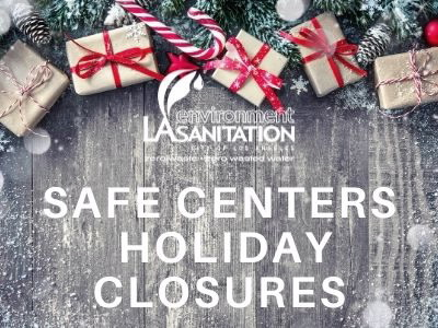 SAFE Center Holiday Closures