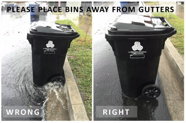 trash can rain